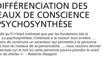 Extrait Son Bleu 31 – la différenciation des niveaux de conscience en psychosynthèse